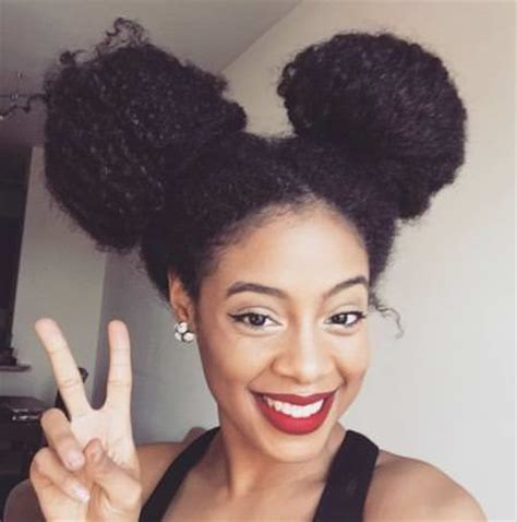 natural hairstyles two buns 20 natural curly hairstyles