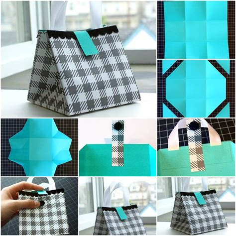 How To Make A Paper Purse Step By Step - how to make paper gift bag step by step diy tutorial