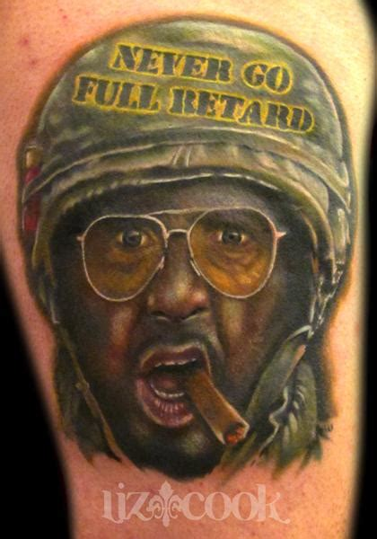 robert downey jr tattoo robert downey jr tropic thunder by liz cook tattoonow