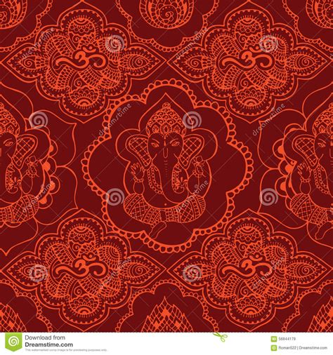 Seamless Pattern Indian | indian seamless pattern with ornament stock vector image