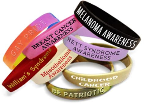 Awareness Wristbands   Personalized Color Bracelets