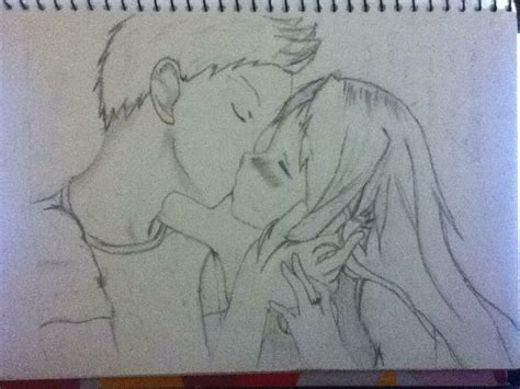anime couples kissing sketches anime couple kiss by brina rawrmonster on deviantart