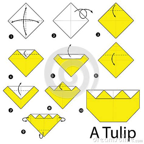 Tulip Origami Step By Step - step by step how to make origami a tulip