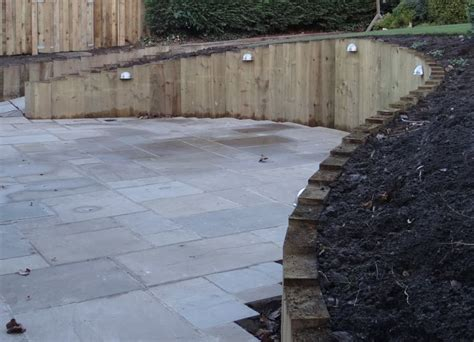 Curved Garden Wall Wall From New Railway Sleepers
