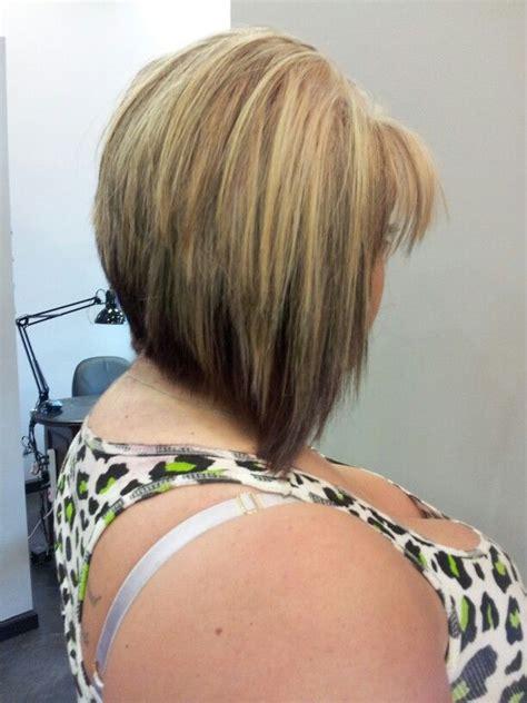 bob haircut jokes partial blonde highlight and lowlight with graduated bob