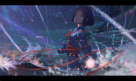 short hair anime anime girls kimi no na wa