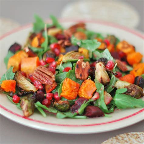 seasonal root vegetables winter root vegetable salad with pomegranate dressing