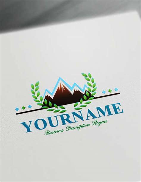 create  mountain logo design  logo maker