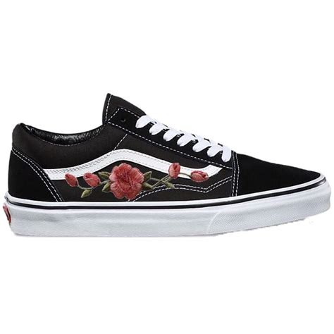 Vans Authentic Dan Skool bn authentic vans classic skool with custom pink roses embroidery s fashion shoes on