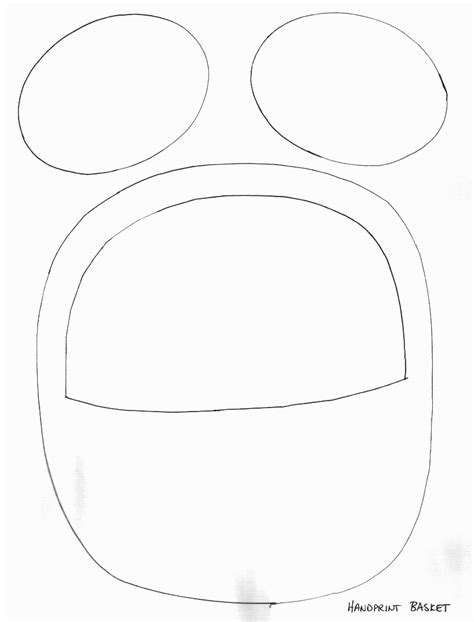easter bunny basket template printable easter crafts print your easter basket template all
