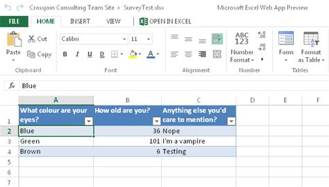 survey forms in excel creating surveys using excel 2013 forms 171 chris webb s bi