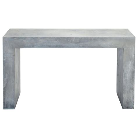 Concrete Console Table Magnesia Concrete Effect Console Table In Grey W 135cm Mineral Maisons Du Monde