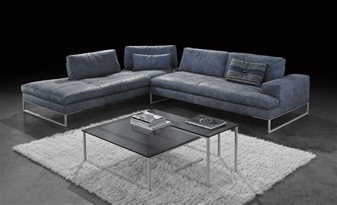 Modular Sofa With Leather Upholstery Sunset Gamma