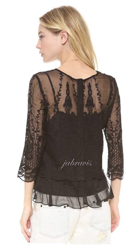 Venetta Blouse Limited dolce vita black embroidered silk chiffon macbeth top blouse nwt ebay