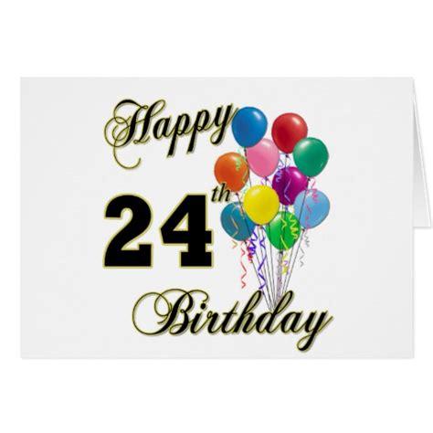 Happy Birthday 24th Card