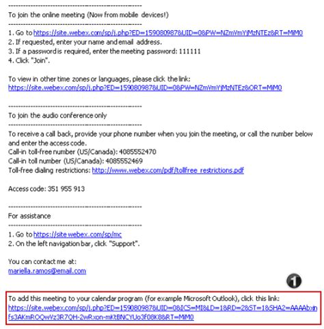 Webex Invitation Template Invitationjpg Com Webex Scheduling Templates
