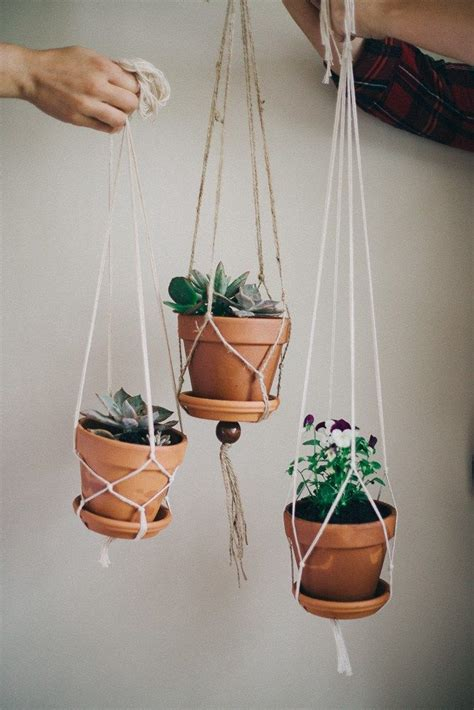 How To Macrame A Plant Holder - 25 best ideas about plant hangers on macrame