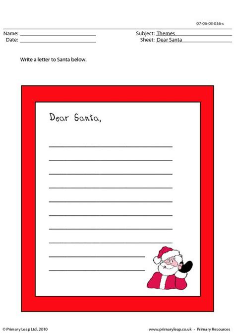 letter to santa template worksheet write a letter to santa primaryleap co uk
