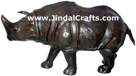 Rhino Handmade - rhino handmade stuffed leather animals toys india