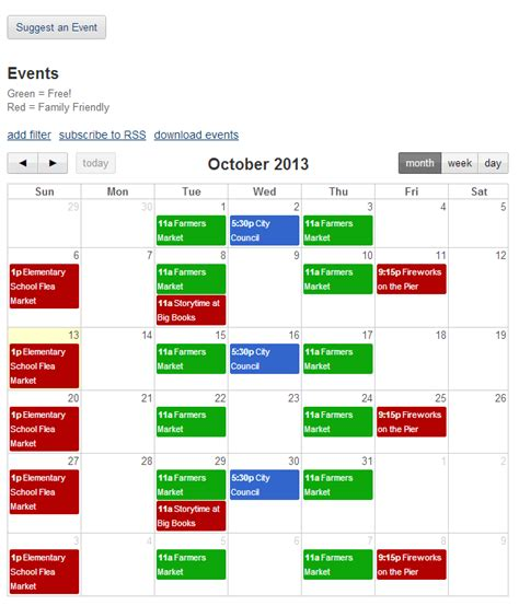 Event Calendar Template For Website by Database And Workflow Templates Event Calendar