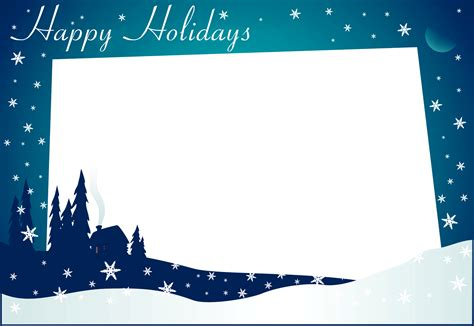 Happy Holidays Photo Card Template Free by Http Www Themeshack Net