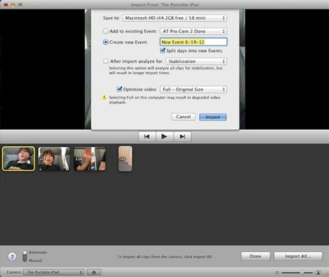 tutorial imovie os x yosemite import to imovie right from your iphone or ipad os x tips