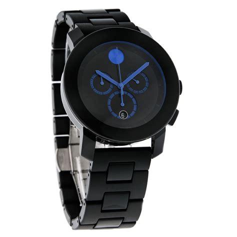 Jam Tangan Movado Swiss movado bold unisex black blue swiss chronograph quartz