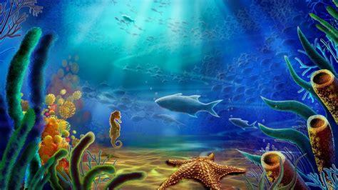 wallpaper underwater cartoon cartoon art vector color ocean underwater wallpaper