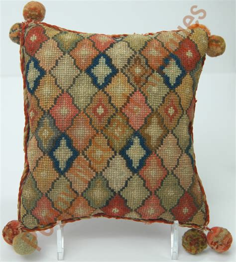 Stich Pillow by Textiles Antique Textile Cross Stitch Pillow Probably
