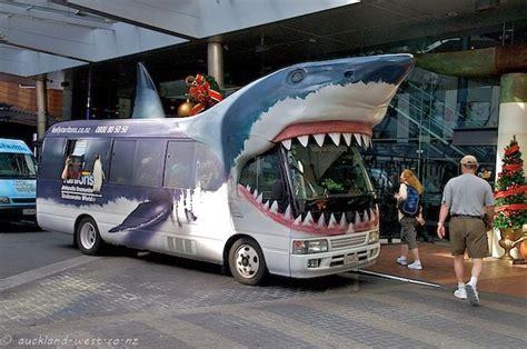 fish omnibus transpress nz the shark bus