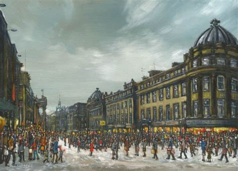 christmas in grey street newcastle john nicholson fine art