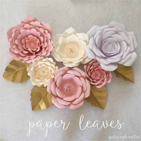 Paper Flower Tutorial - paper leaves ash and crafts