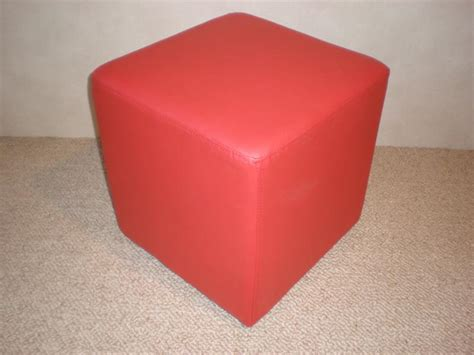 red cube ottoman red cube ottoman