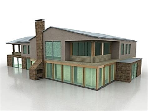 3d house building house building 3d model scale model buildings modern