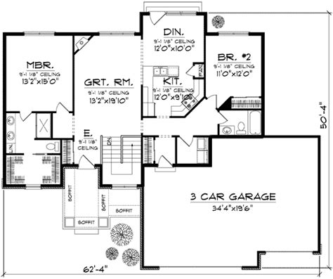 affordable open floor plans affordable open floor plan design 89653ah
