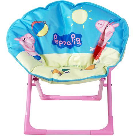 peppa pig chair peppa pig folding oval moon chair seat new ebay