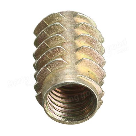 5pcs M10x25mm Hex Drive Screw In Threaded Insert For Wood