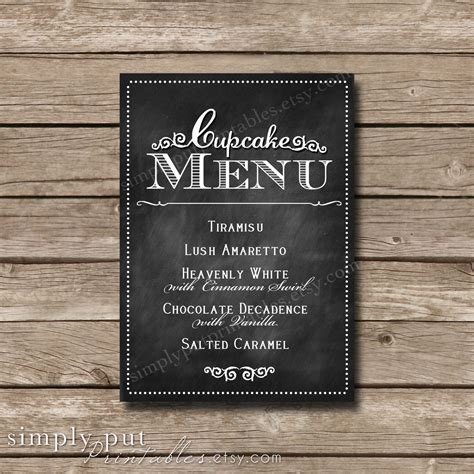 electronic age chalkboard sign chalkboard menu signs by chalkboard cupcake menu sign wedding cupcake bar sign