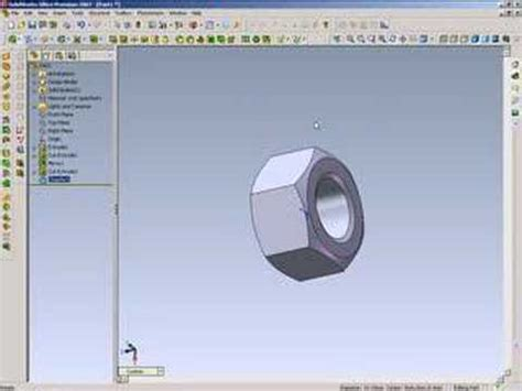solidworks tutorial nut solidworks tutorial how to draw a nut youtube