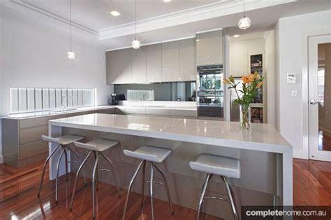 Gray Caesarstone Kitchen by Kitchen Inspiration Caesarstone Benchtop Grey Cabinets