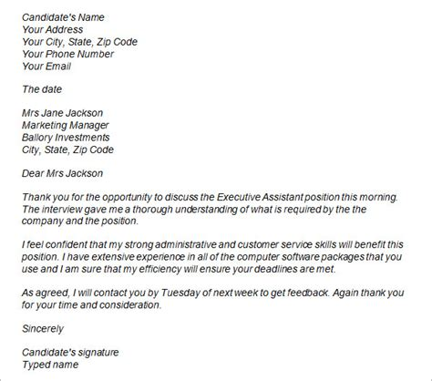 7 thank you email after phone interview sample informal letters