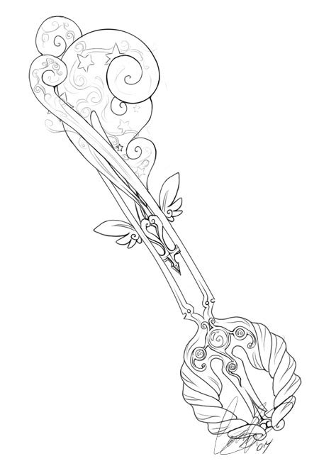 keyblade coloring pages keyblade concept by andoledius on deviantart