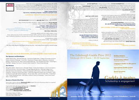 leaflet design edinburgh the edinburgh gadda prize