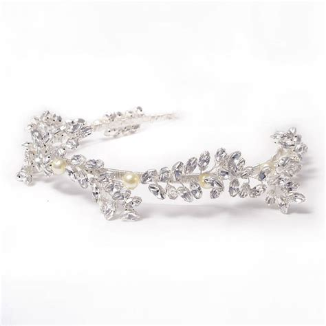 Handmade Bridal Tiaras - white handmade tiara for stylish weddings