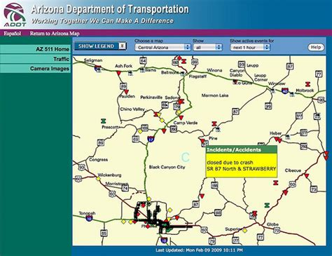 road condition map arizona highway conditions map flickr photo