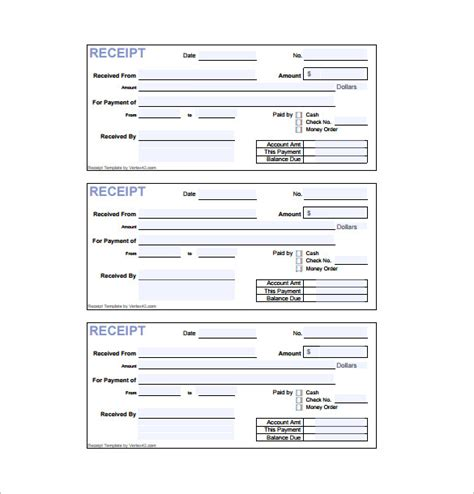 blank receipt template pdf receipt template doc for word documents in different types