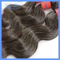 salt and pepper in hair extentions middle aged and elderly women brazilian virgin gray hair