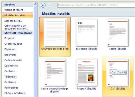 Modèle De Lettre Microsoft Word Les Mod 232 Les Dans Word 2007