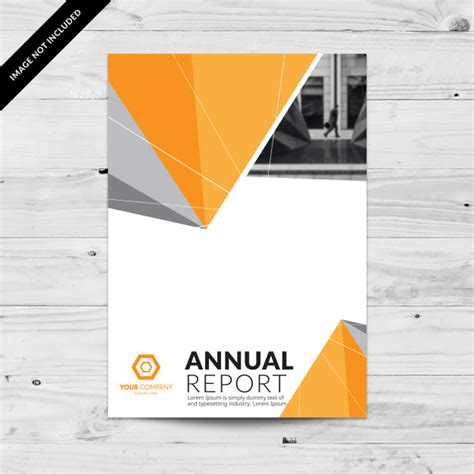 Annual Report Template Circle And Triangles Hossain Annual Report Design Template With Grey And Orange
