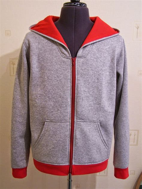 sewing pattern zip up hoodie a finlayson modified to include a zipper front a needle